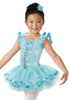 Girls' Blue Velvet Tutu Dress; Weissman Costumes(que sera sera)
