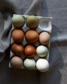 Eggs - miss these colors. Makes me want chickens again...I have to find someone who sells eggs...