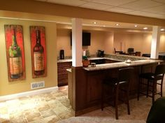 Finished Basements With Bar Design Ideas, Pictures, Remodel and Decor