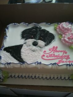 Amazing birthday cake with the face of my #Havanese