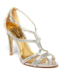 Take a look at this Silver Snake Tilbey Sandal by Ted Baker on #zulily today!