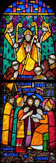 Muids, Eglise Saint-Hilare - Saint-Hilaire as Bishop