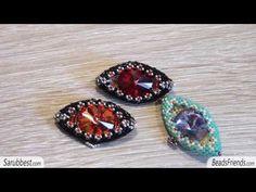 Dragon Eye Tutorial - How to make a Dragon eye with beads - Peyote stitch - YouTube