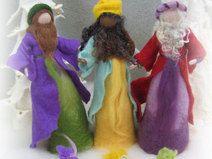 gefilzte Krippenfiguren SET A, 3 Heilige Könige