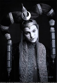 Beautifull picture of Amidala's costume for Star Wars. Photo by Nigel Parry