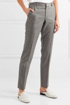 Joseph - Kong Super 100 Wool-twill Straight-leg Pants - Gray - FR44