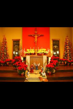 Christmas Decorations at St. Peter's Catholic Church