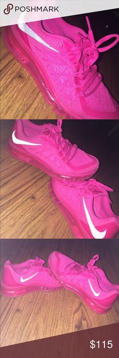 9d28ac1c78f5e6 Nike Air Max all pink Bright pink and black air maxes. Worn less than 5