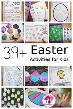 39+ Easter Activities and Printables - collection of themed Easter printable packs, Easter number printables, Easter math printables, Easter crafts, Easter sensory bins, and more - 3Dinosaurs.com #easterprintables #easteractivities #easterforkids #3dinosaurs #easteractivitiesforkids #easter Easter Activities For Kids, Printable Activities For Kids, Fun Crafts For Kids, Kid Activities, Creative Arts And Crafts, Creative Play, Arts And Crafts Projects, Easy Easter Crafts, Easter Ideas