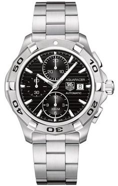 Tag Heuer Aquaracer Automatic Black Dial Chronograph Mens Watch CAP2110.BA0833 B005E0NGHU