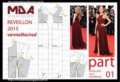 ModelistA: A3 NUMo 0165 DRESS REVEILLON RED VERMELHO