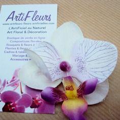 5% et FDP offerts avec le code SPECIAL - Broche ou barrette fleuron orchidée blanc parme cœur magique