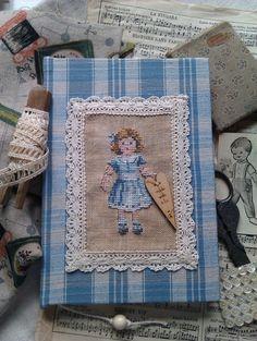 Blauw geruit notitieboek | HomeMade Artikelen | Atelier Laura