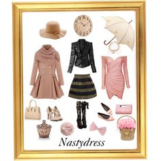 Nastydress01 by giovanina-001 on Polyvore featuring PINK BOW, Fulton, H&M and Umbra
