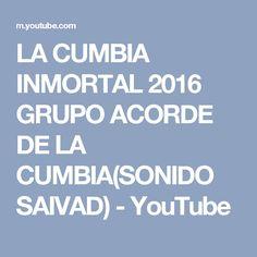 LA CUMBIA INMORTAL 2016 GRUPO ACORDE DE LA CUMBIA(SONIDO SAIVAD) - YouTube
