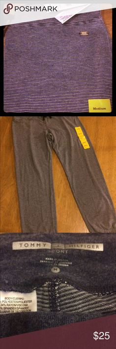 Tommy Hilfiger pants Brand new. Super comfy sport pants.  blue and white stripes.   Size medium. Ships same or next day Tommy Hilfiger Pants Track Pants & Joggers