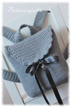 Diy Crochet Bag, Crochet Saco, Crochet Backpack, Diy Handbag, Diy Purse, Crochet Handbags, Crochet Purses, Easy Crochet Patterns, Crochet Designs