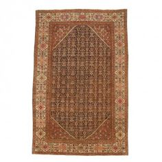 Antique Persian Mahal Rug - 13'x20'