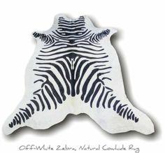 Amazon.com - nuLOOM Zebra Print Cowhide Black/White Rug 5' x 7' - Area Rug Sets