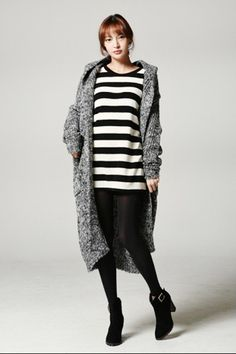 YesStyle Hooded Open Front Cardigan, $118, available at YesStyle.