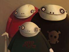The Gang - Wallpaper by TinyPilot on DeviantArt