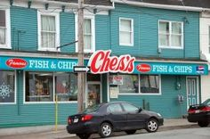 The best fish n chips in the world. Ches's Fish and Chips. Canadian Travel, Canadian Food, Constitution Of Canada, Famous Fish, Best Fish And Chips, Vintage Restaurant, Newfoundland And Labrador, Best Food Ever, Beautiful Places In The World