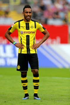 Pierre-Emerick Aubameyang looks on during the friendly match between Wuppertaler SV and Borussia Dortmund at Stadion Zoo on July 9, 2016 in Wuppertal, Germany.