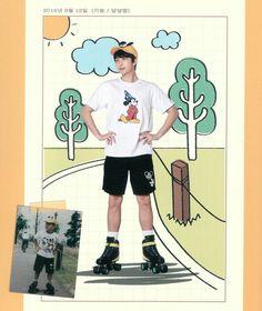 BTS recreating photos of his childhood Namjoon, Rapmon, Bts Taehyung, Mixtape, Bts Rap Monster, Suga Rap, Bts Bangtan Boy, Bts Jimin, Foto Bts