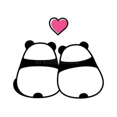 Illustration about Cute panda couple in love, simple and minimal cartoon drawing. Back view from behind. Valentine`s day greeting card vector illustration. Illustration of animal, behind, drawing - 114875054 Mini Drawings, Cute Cartoon Drawings, Cute Easy Drawings, Cute Animal Drawings, Doodle Drawings, Horse Drawings, Cute Panda Wallpaper, Bear Wallpaper, Cute Doodle Art