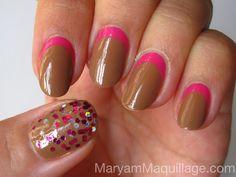 nail designs | Choco w/ Raspberry Filling NAILS