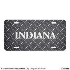 Printed Flag Eagle Black Diamond Plate Vehicle License Plate Auto Tag Aluminum