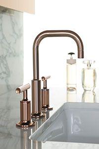 Kohler Rose Gold Finish For A Bathroom Faucet Bathroom Faucets - Gold faucets bathroom fixtures