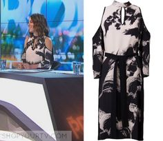 The Project: April 2017 Gorgi's Cold Shoulder Keyhole Dress Ginger And Smart, Keyhole Dress, Cold Shoulder, Kimono Top, Cover Up, Friday, Joy, Printed, Projects