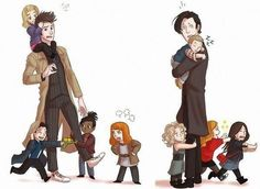 10 and 11 and their companions. This is adorable!!!