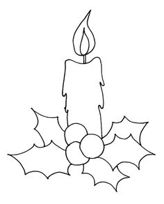 How to Draw Christmas Candle Coloring Pages Easy Christmas Drawings, Christmas Sketch, Christmas Templates, Candle Sketch, Candle Drawing, Christmas Candle, Christmas Art, Simple Christmas, Kids Christmas Coloring Pages