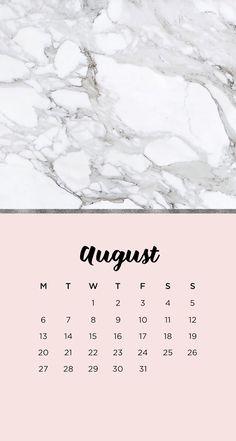 August 2018 calendar wallpaper iPhone