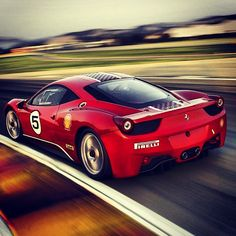 Ferrari taking the racing line