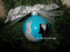 Bride and Groom Christmas Ornament / Our by CarolinaMoonCrafts, $12.00