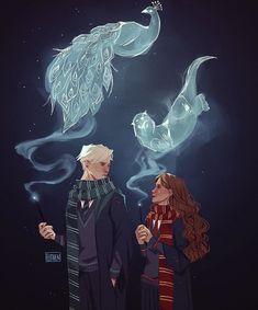 Magie Harry Potter, Arte Do Harry Potter, Harry Potter Artwork, Harry Potter Feels, Harry Potter Draco Malfoy, Harry Potter Ships, Harry Potter Drawings, Harry Potter Anime, Harry Potter Pictures