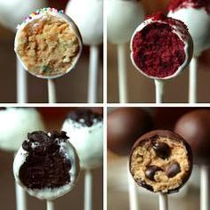 cake pops 4 ways - Google Search