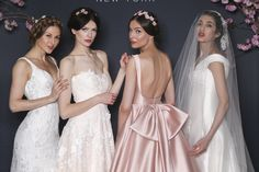 Sareh Nouri Bridal Spring 2018 | Brides.com Fairy Wedding Dress, Bridal Wedding Dresses, Dream Wedding Dresses, Bridesmaid Dresses, White Gowns, Bridal Fashion Week, Wedding Dress Shopping, Spring Dresses, Bridal Looks