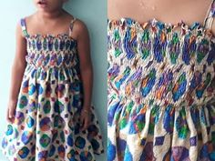shirred frock stitching Malayalam /easy and simple frock Girls Frock Design, Kids Frocks Design, Baby Frocks Designs, Baby Dress Design, Baby Frock Pattern, Frock Patterns, Baby Girl Dress Patterns, Baby Girl Frocks, Frocks For Girls