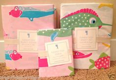 Pottery Barn Kids Funny Fish Pink Twin Duvet Cover Sham Sheet New Lahaina Surf | eBay