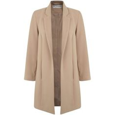 Miss Selfridge Duster Coat, Camel