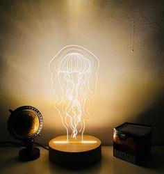 Ledlamp, jellyfish