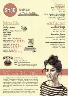 SMOG Creative CV by Miguel Rato, via Behance