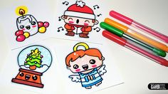 Drawing Cute Christmas Easy and Kawaii Drawings by Garbi KW