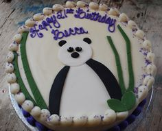 panda + bamboo cake by Snacky French