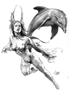 Ocean Fairy / 2000 (Julie Bell)