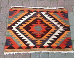 "Anatolian Turkish Classic Kilim Rug Carpet 31"" x  23"" ( 80 cm x63  cm)"